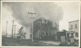Tobacco Storage Store Fire - Early 1900's Photo Photograph