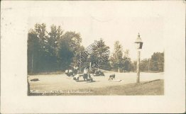 Tennis Court, Rolling Pack, Camp Wuttaumoh, Canaan, NH 1921 RP Postcard