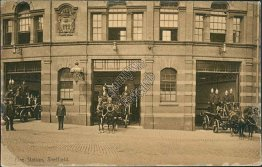 Fire Station, Sheffield, England UK - Early 1900's Postcard