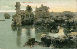Rock Formation, St. Georges, Bermuda - Early 1900's Postcard