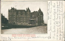 Chateau Frontenac from Dufferin Terrace, Quebec City, Canada 1902 Postcard