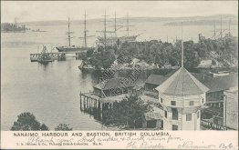 Nanaimo Harbour & Bastion, British Columbia BC Canada 1906 Postcard
