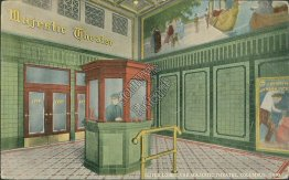 Lobby, Majestic Theatre, Columbus, OH Ohio - Early 1900's Postcard