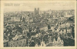 Panoramic View, Brussels, Belgium - Early 1900's Postcard
