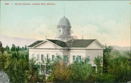 State Capitol, Carson City, NV Nevada - Early 1900's Postcard