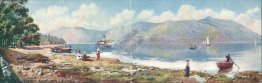 Tarbet Bay, Loch Lomond, Scotland RARE TUCK DOUBLE Postcard