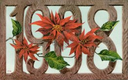 1908 New Year, Year Date Large Letter - Early 1900's Postcard