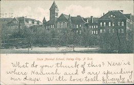State Normal School, Valley City, ND North Dakota - 1908 Postcard