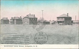 Government Indian School, Wahpeton, ND North Dakota - 1912 Postcard