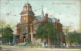 Elks House, Birmingham, AL Alabama - 1908 Postcard