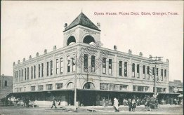 Opera House, Popes Department Store, Granger, TX Texas - 1910 Postcard