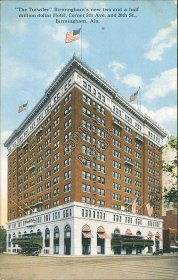 Tutwiler Hotel, 5th Ave., 20th St., Birmingham, AL Alabama Early 1900's Postcard