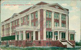 Modern Cigar Factory, Tampa, FL Florida - Early 1900's Postcard