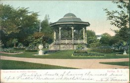Band Stand in Public Garden, Halifax, NS, Canada 1906 Postcard