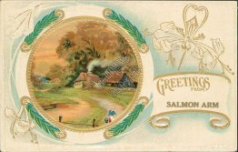 Greetings from Salmon Arm, British Columbia BC, Canada - Early 1900's Postcard