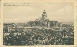 Panorama, Palace of Justice, Brussels - Early 1900's Postcard