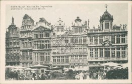 Corporations House, Market Place, Brussels - Early 1900's Postcard