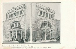 Edgett's Restaurant, Fulton St., Flatbush Ave., Brooklyn, NY Pre-1907 Postcard