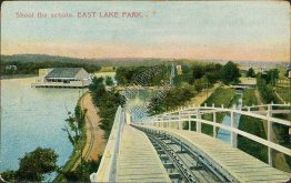 Shoot the Schute, East Lake Park, Birmingham, AL Alabama - Early 1900's Postcard