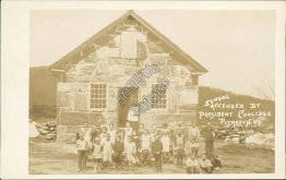 School of President Coolidge, Plymouth, VT Vermont - Early 1900's RP Postcard