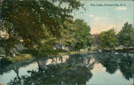 The Lake, Greensville, SC South Carolina - 1911 Postcard