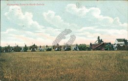 Harvesting Scene in North Dakota ND - 1908 Postcard