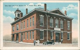 City Hall, Fire Station No. 1, Yazoo City, MS Mississippi Early 1900's Postcard