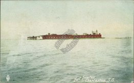 Fort Sumter, Charleston, SC South Carolina - Early 1900's Postcard