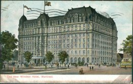 Windsor Hotel, Montreal, Canada - 1908 Postcard