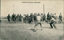 Army Baseball Team, Umpire, Chattanooga, TN - Early 1900's Postcard