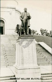 President William McKinley Memorial, Canton, OH Real Photo RP Postcard