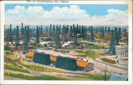 A California Oil Field, CA - Early 1900's Postcard