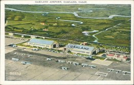 Oakland Airport, Oakland, CA California - Early Postcard