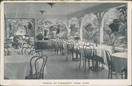 Porch of Piedmont Park Café, Oakland, CA California 1908 Postcard