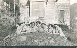 Girls Football / Rugby Team, Ketchum, ID Idaho - Early Real Photo RP Postcard