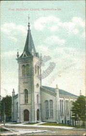 First Methodist Church, Huntsville, AL Alabama - 1910 Postcard