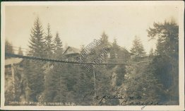 Capilano Suspension Bridge, Vancouver, BC, Canada - Early 1900's Photo