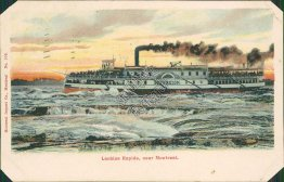 Steamer Sovereign, Lachine Rapids, Montreal, Quebec, Canada 1903 Postcard