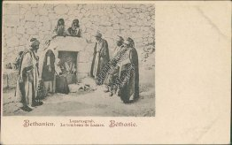 Bethany Tomb of Lazarus, Bethany, Israel - Early 1900's Postcard