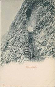 Pilatus Train, Lucerne, Switzerland - Early 1900's Postcard
