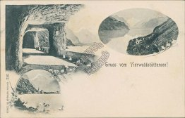 Greetings from Lake Lucerne!, Zurich, Switzerland - Early 1900's Postcard