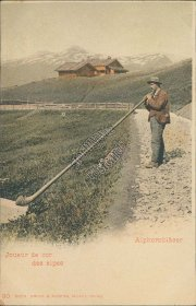 Yodeler, Horn Player of the Alps, Neuchatel, Switzerland - Early 1900's Postcard