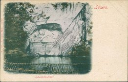 The Lion Monument, Lucerne, Switzerland - Early 1900's Postcard