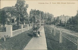 Victoria Ave: E from 18th Street, Edmonton, Alberta AB - Early 1900's Postcard