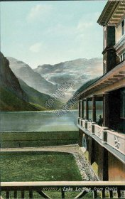 Lake Louise from Chalet, Banff National Park, Alberta AB - Early 1900's Postcard
