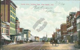Garris Ave., looking East, Trolley, Fort Smith AR Arkansas Early 1900's Postcard