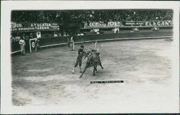 Bull Fighting, Fighter, Mexico City - Early 1900's Real Photo RP Postcard