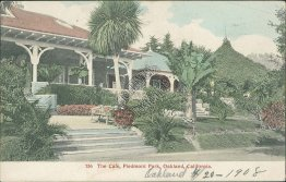 Café, Piedmont Park, Oakland, CA California 1908 Hand Colored Postcard