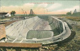 US Navy Dry Dock, Charleston, SC South Carolina - 1907 Postcard