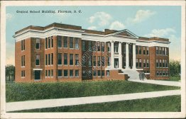 Central School Building, Florence, SC South Carolina - 1918 Postcard